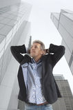 Businessman and big city Royalty Free Stock Photo