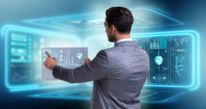 The businessman in big data management concept Stock Image