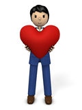 A businessman with a big heart Royalty Free Stock Images
