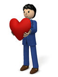 A businessman with a big heart. Royalty Free Stock Photos
