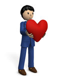 A businessman with a big heart. Stock Image