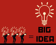 Businessman Big Idea Royalty Free Stock Photography