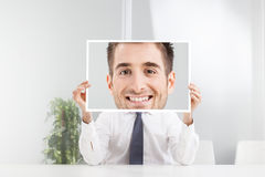 Businessman with big smile Stock Photography