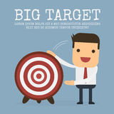 Businessman with a big target,Vector cartoon concept abstract business Royalty Free Stock Photos