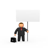 Businessman with billboard Stock Photos