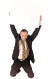 Businessman billboard Royalty Free Stock Photos