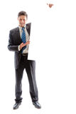 Businessman and billboard 2 Royalty Free Stock Photo