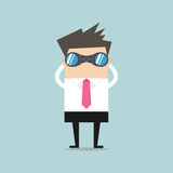 Businessman with binoculars Royalty Free Stock Image