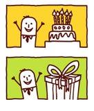 Businessman & birthday Royalty Free Stock Photography