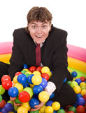 Businessman birthday with ball. Stock Image