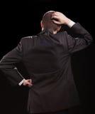 Businessman on black Stock Image
