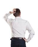 Businessman on black Stock Images