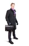 Businessman  in black coat Royalty Free Stock Image