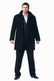 Businessman in the Black Coat. Stock Photo