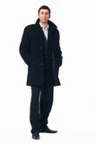 Businessman in the Black Coat. Royalty Free Stock Image