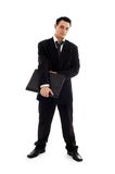 Businessman with black folder #2 royalty free stock photography