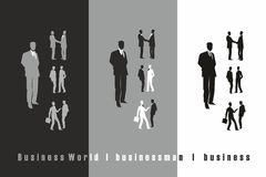 Businessman black, grey, white stock photos