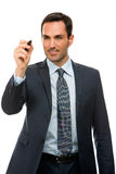 Businessman with a black marker Royalty Free Stock Photos