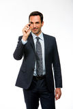 Businessman with a black marker Stock Image
