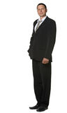 The businessman in a black suit Royalty Free Stock Image