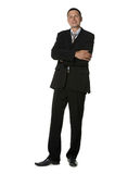 The businessman in a black suit Stock Images