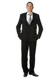 The businessman in a black suit Stock Image
