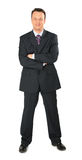 Businessman in black suit full body Royalty Free Stock Image