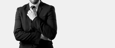 Businessman in black suit Royalty Free Stock Photo