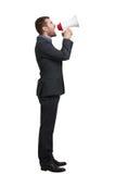 Businessman in black suit Stock Photos