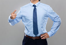 Businessman blame on others Stock Photo