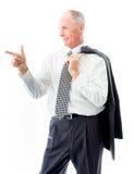 Businessman blaming somebody Stock Image