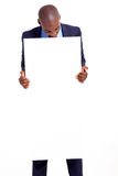 Businessman blank banner Royalty Free Stock Photography
