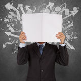 Businessman with blank book Stock Photo