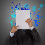 Businessman with blank book Royalty Free Stock Image