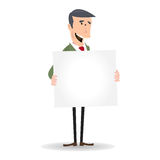 Businessman Blank Message Stock Photography