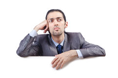Businessman with blank message Royalty Free Stock Photo
