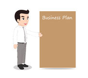 Businessman blank message board Royalty Free Stock Photos