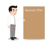 Businessman blank message board Royalty Free Stock Photos