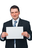 Businessman With Blank Paper Royalty Free Stock Images