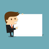 Businessman with blank paper.  Vector Illustration