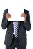 Businessman With Blank Sign Royalty Free Stock Photography