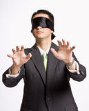 Businessman in blindfold Stock Photography