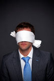 Businessman blindfolded Royalty Free Stock Photography