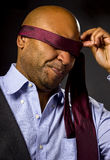 Businessman Blindfolded Royalty Free Stock Photo