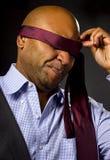 Businessman Blindfolded Royalty Free Stock Photo