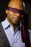 Businessman Blindfolded Stock Photography
