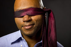 Businessman Blindfolded Stock Photo