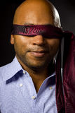 Businessman Blindfolded Stock Image