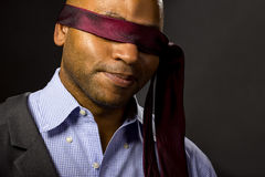 Businessman Blindfolded Stock Images