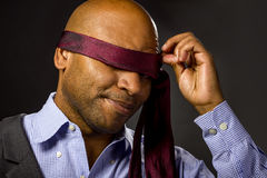 Businessman Blindfolded Royalty Free Stock Image